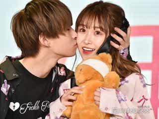 """カップルYouTuber・おたひか、""""ほっぺにキス""""の胸キュンランウェイ<超十代2020>"""