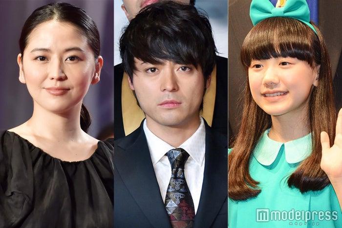 語りを務めた長澤まさみ、ドラマの主演の山田孝之、ドラマ内で製作される映画の主演の芦田愛菜 (C)モデルプレス