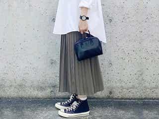 【ユニクロ】おしゃれさんがヘビロテ中!人気プリーツスカートは秋も大活躍