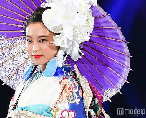 小島瑠璃子の着物姿が目を見張る美しさ…インスタ映え狙えるトレンド感溢れる着こなし