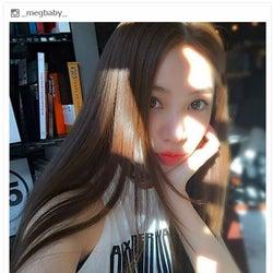 インスタアイドルMEGBABY、茶髪でイメージ一新「何色でも可愛い」「美人すぎる」反響殺到