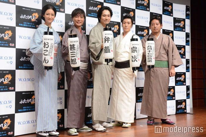 (左から)菜々緒、成宮寛貴、松山ケンイチ、早乙女太一、入江悠監督(C)モデルプレス