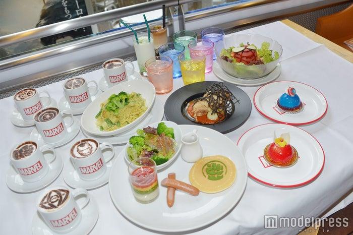 マーベル・カフェで提供されるメニュー (C)モデルプレス