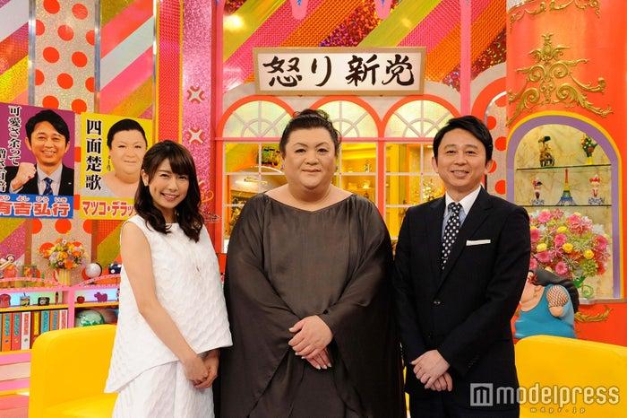 青山愛アナ(左端)がテレビ朝日「怒り新党」レギュラーに(C)テレビ朝日