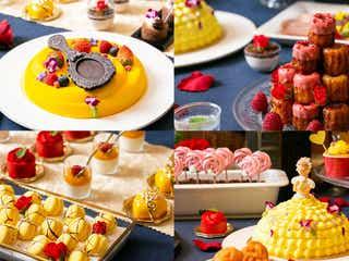 「美女と野獣」のバラやプリンセスのデザートが可愛すぎ デザートブッフェを期間限定で開催