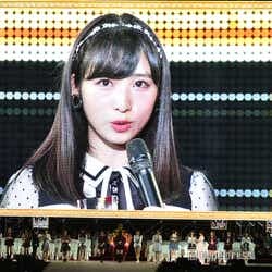 """モデルプレス - """"王道アイドル""""AKB48小栗有以、大幅ランクアップで堂々宣言<第10回AKB48世界選抜総選挙>"""