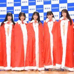 (左から)沢口愛華、ぴーぴる、夏目綾、豊田ルナ、吉澤遥奈、山口はのん、桜田茉央 (C)モデルプレス