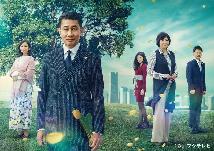 (左から)優香、中井貴一、今田美桜、松下由樹、泉澤祐希(画像提供:フジテレビ)