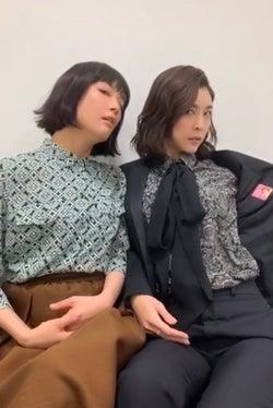 人生初「TikTok」に挑んだ水川あさみ、竹内結子(画像提供:フジテレビ)