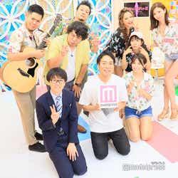 (前列左から)田中一彦、武智、戸田れい(後列左から)馬と魚、のぶひろ、ロジャー、ゆきぽよ、三田寺理紗、松嶋えいみ (C)モデルプレス