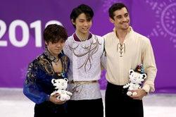 宇野昌磨、羽生結弦、ハビエル・フェルナンデス(Photo by Getty Images)
