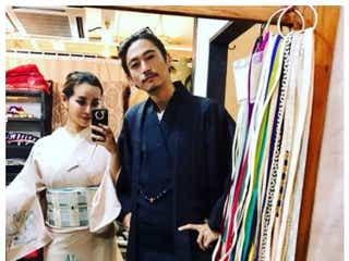 窪塚洋介&PINKY、夫婦2ショット しっとり着物姿で「絵になる」「憧れの夫婦」