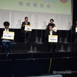 (前列左から)山中崇、松坂桃李、仲野太賀(後列左から)今泉力哉監督、芹澤興人、若葉竜也、コカドケンタロウ(C)モデルプレス
