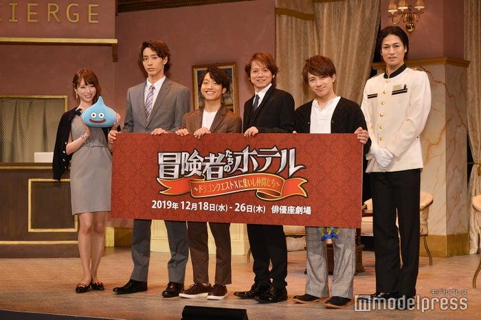 (左から)花奈澪、近藤頌利、今江大地、佐野瑞樹、米原幸佑、丸山敦史(C)モデルプレス