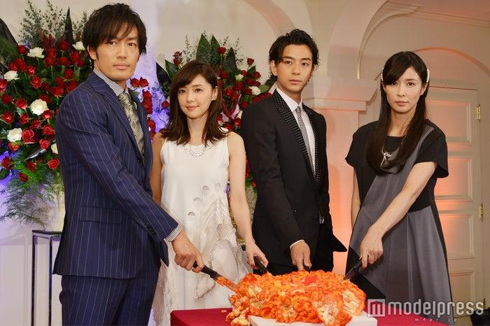 (左から)大谷亮平、倉科カナ、三浦翔平、水野美紀 (C)モデルプレス