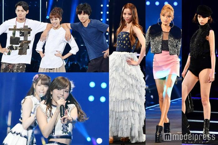 (左上から時計回りに)野村周平、桐谷美玲、香里奈、ローラ、水原希子、白石麻衣(C)モデルプレス
