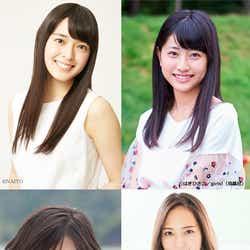 (左上から時計回りに)矢作穂香、喜多乃愛、山賀琴子、桜田ひより(提供写真)