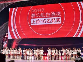 "AKB48""紅白選抜""全順位発表<1位~48位/全メンバー最終獲得票数>"