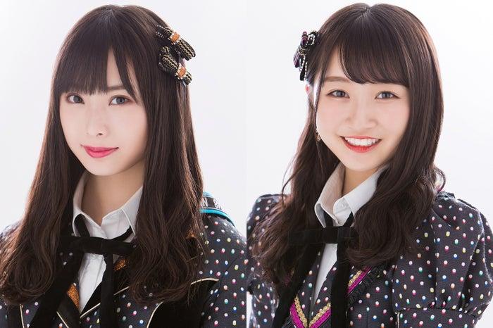 Wセンターを務める梅山恋和、山本彩加 (C)NMB48