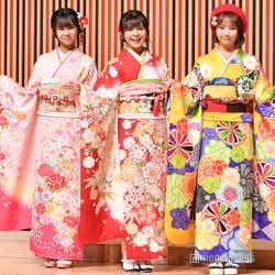 NGT48(左から)真下華穂、本間日陽、山田野絵 (C)モデルプレス