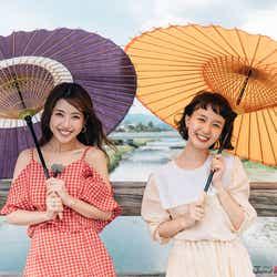 モデルプレス - くみっきー&柴田紗希、梅雨の京都を満喫 注目スポット&グルメとは?