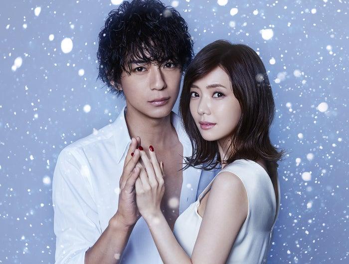 金曜ナイトドラマ「奪い愛、冬」で初共演する(左から)三浦翔平と倉科カナ(C)テレビ朝日