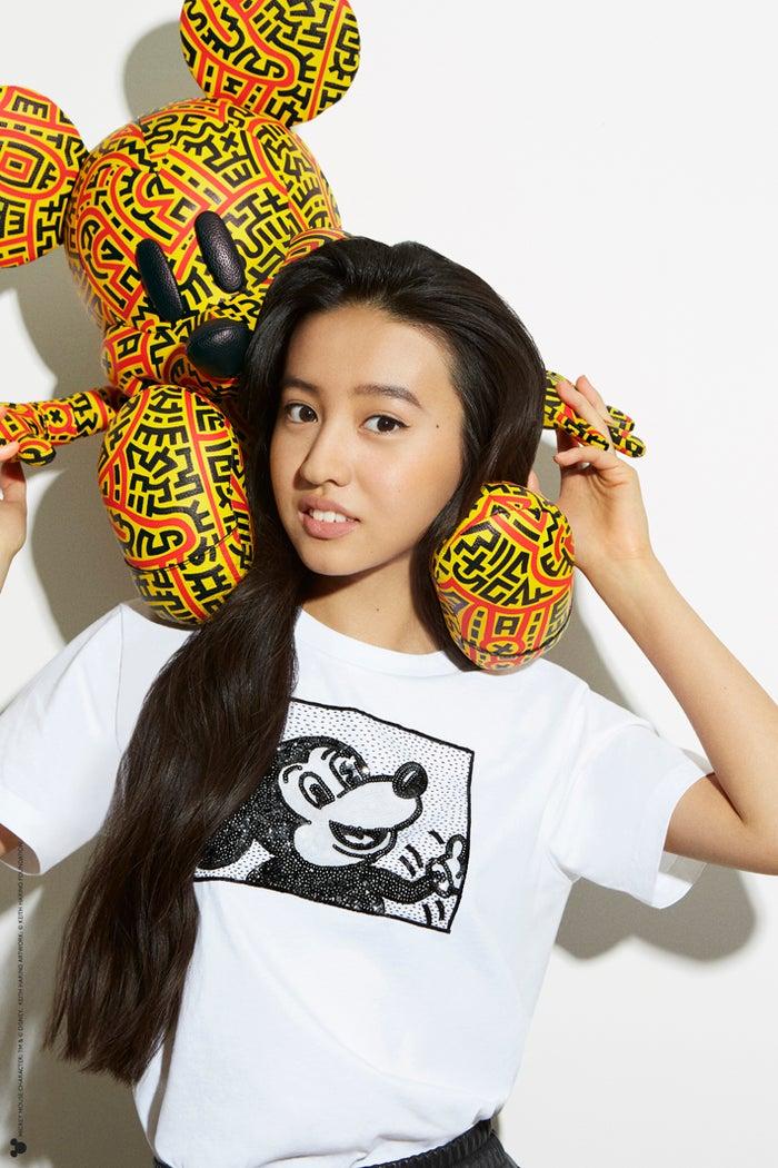 Koki,ミッキーづくしな「コーチ」最新コレクションを披露<br> TM &amp;(c)Disney (c)Keith Haring Foundation