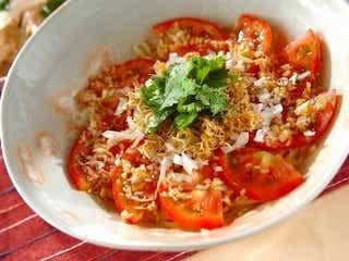 紫外線が気になりはじめたら「トマトとジャコの冷やし中華」
