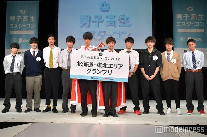 「男子高生ミスターコン2017」北海道・東北地方ファイナリスト(C)モデルプレス