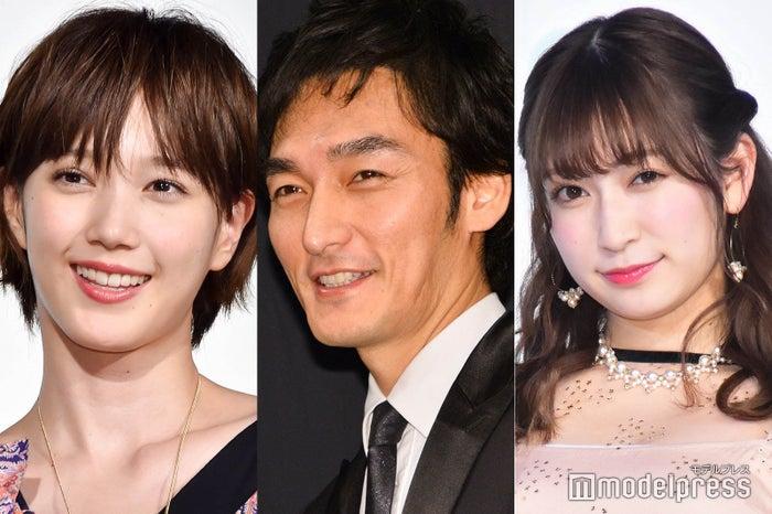 (左から)本田翼、草なぎ剛、吉田朱里(C)モデルプレス