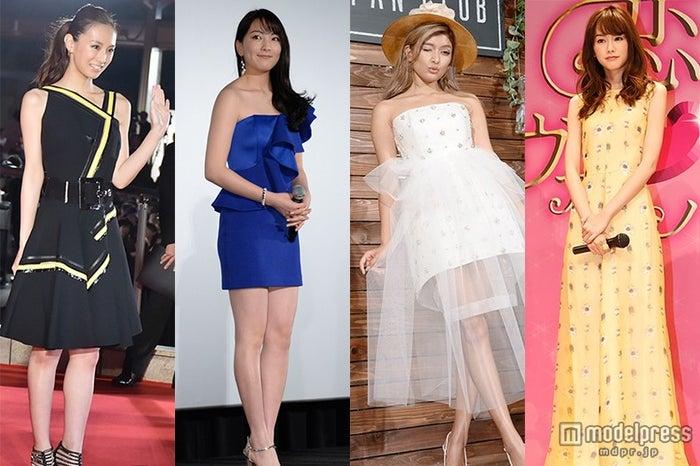 2015年ドレス特集(左から)北川景子、知英、ローラ、桐谷美玲(C)モデルプレス