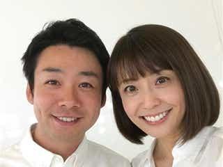 """小林麻耶さん夫妻、生放送で""""プチ結婚式"""" 稲垣・草なぎ・香取が協力"""