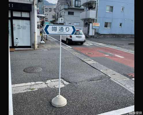 道端で遭遇した標識、何かがおかしい 目撃者も「ウソかと思った…」と動揺