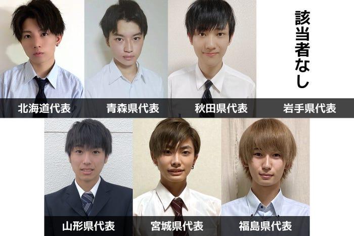 「男子高生ミスターコン2020」北海道・東北エリア都道府県代表