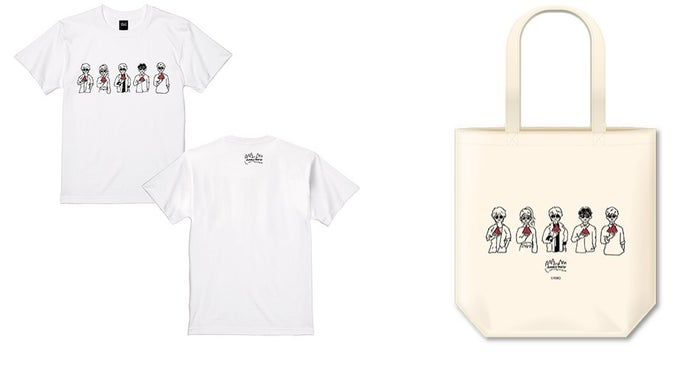 Tシャツ(S/M/L/XL)各3,000円、トートバッグ1,500円(税抜)(C)AMG