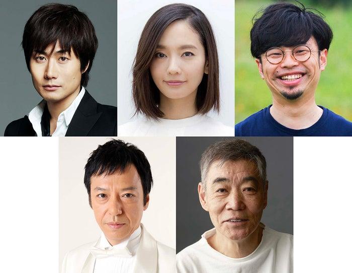 (上段左から)戸次重幸・中村ゆり・浜野謙太(下段左から)板尾創路・柄本明(提供画像)