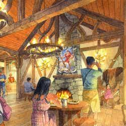 「ラ・タベルヌ・ド・ガストン」の内観 (C)Disney