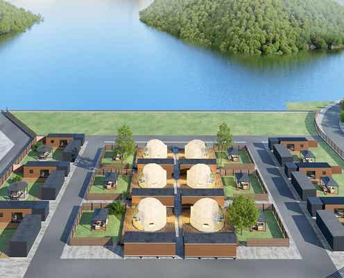 広島に温泉露天風呂&庭付きグランピング施設「グランピスパ瀬戸内」犬と泊まれるコテージも
