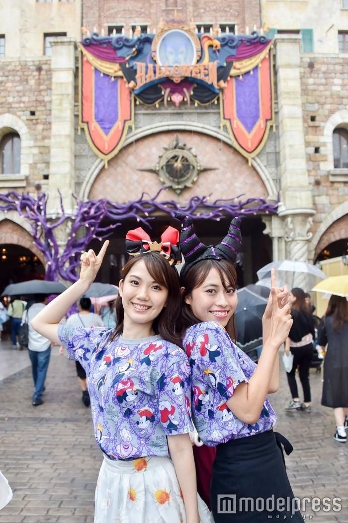 ディズニーシー/モデル:(左から)松田佳奈子、山本沙樹(C)モデルプレス(C)Disney