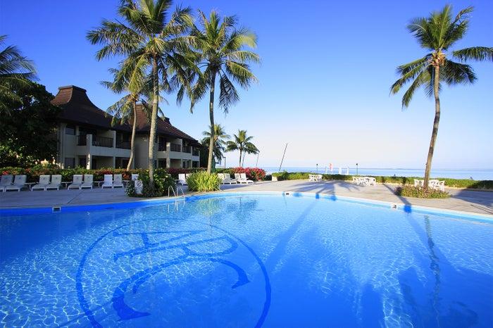 開放的な気分になれる屋外プール(C)Aqua Resort Club Saipan