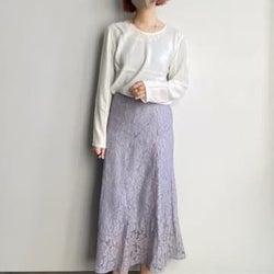 GUの新作、これ大当たり!2490円の「レーススカート」が上品でめちゃ高見えします!