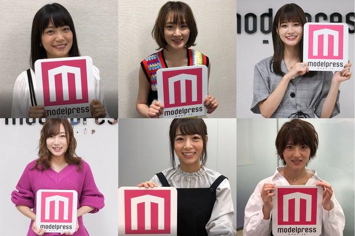 モデルプレスあけおめ2019(左上から時計回り)深川麻衣、生駒里奈、生見愛瑠、若月佑美、北野日奈子、京佳(C)モデルプレス