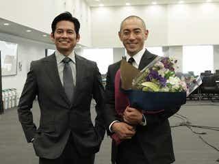 市川海老蔵、月9クランクアップ 織田裕二から刺激「大変勉強になりました」<SUITS/スーツ>