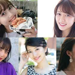 (上段左上から時計回り)中林奈々さん、小滝日菜乃さん、三上喬子さん、吉村恵里子さん、西尾ゆいさん(提供写真)