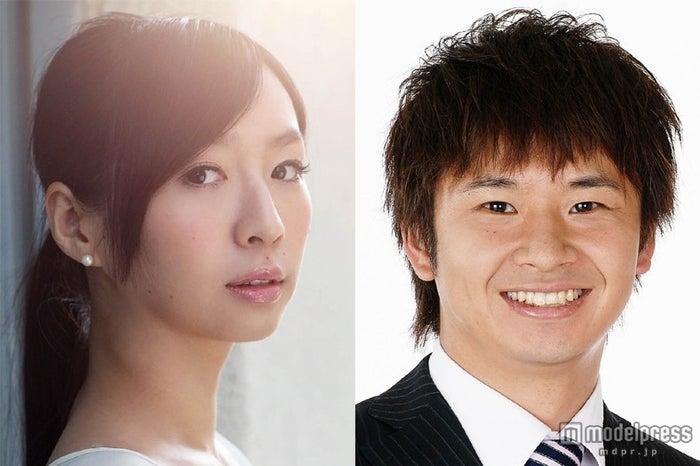 特別ドラマ「終電ごはん」に出演するオードリー・若林正恭(右)、酒井若菜(左)