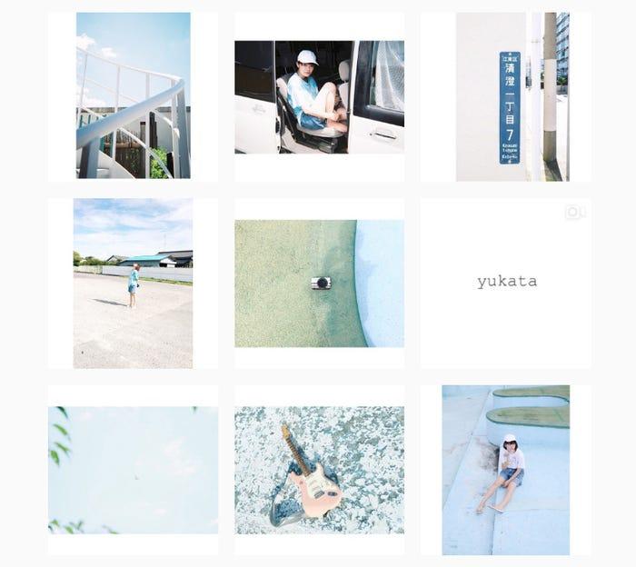 ミントカラーで統一したインスタトップ画面/mahocato Instagramより
