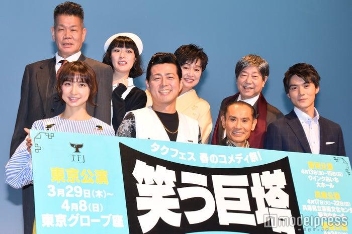(下段左から)篠田麻里子、宅間孝行、片岡鶴太郎、松本享恭(上段左から)梅垣義明、鳥居みゆき、かとうかず子、石井愃一 (C)モデルプレス