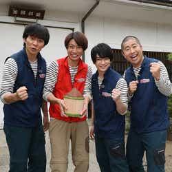 (左から)渡部建、相葉雅紀、知念侑李、澤部佑(C)テレビ朝日