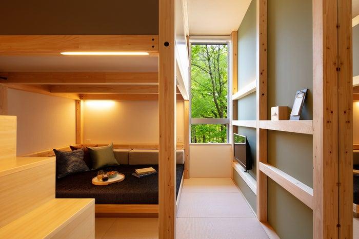ロフトベッドを備えた客室「YAGURA  Room」/画像提供:星野リゾート