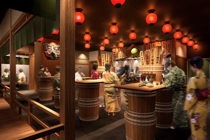 日本酒利き酒トークショーが楽しめる角打ち山善亭/画像提供:大阪ベイタワー合同会社